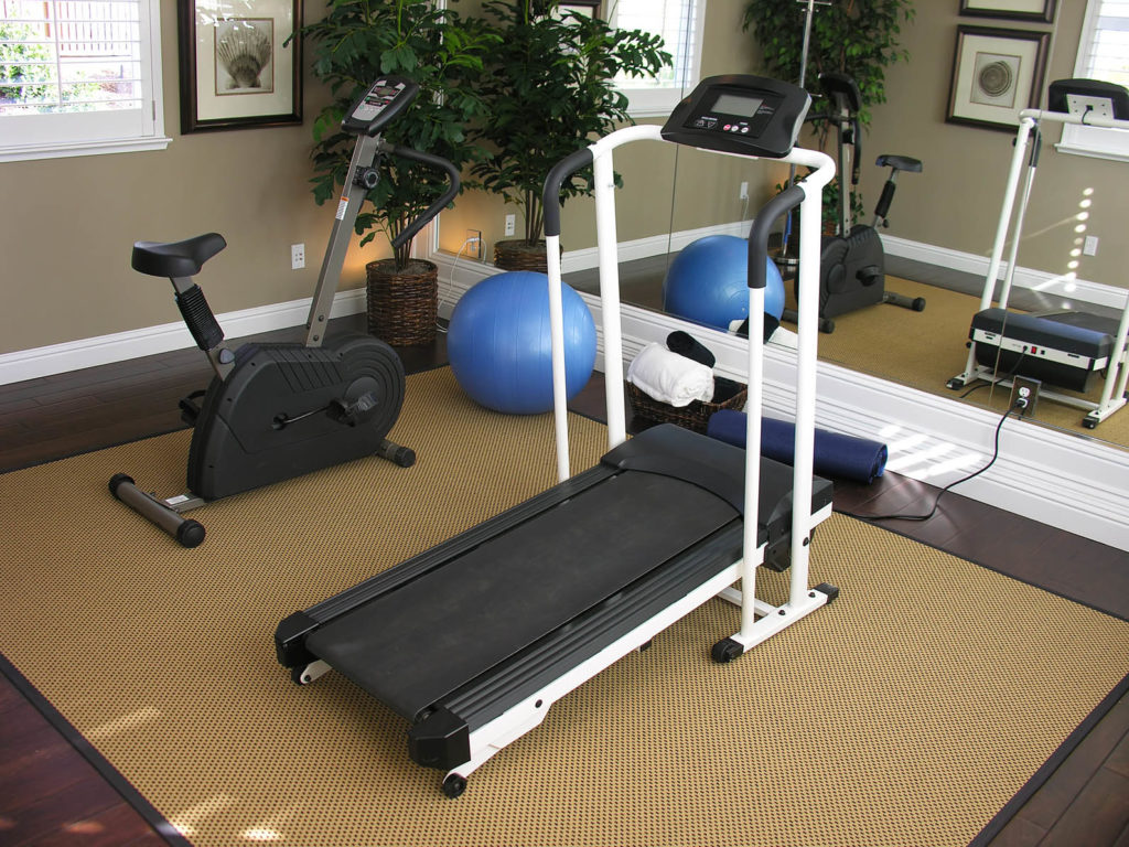 An exercise room inside a residential home